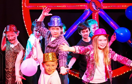 The cast of Dazzle from Bowness on Solway primary school's production bring the house down