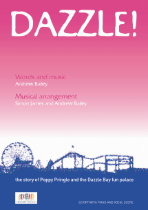 Dazzle script cover for school musical